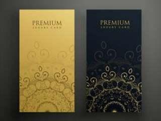 金色和黑色颜色的优质曼陀罗牌