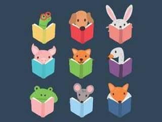 套读书的动物