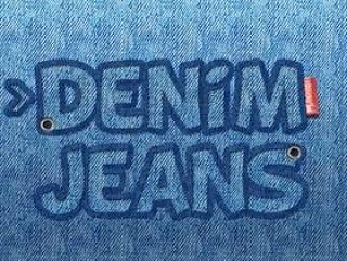 的牛仔裤文本Photoshop模板 Free Jeans Text Photoshop Template