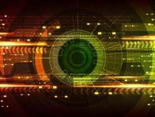 未来的眼睛网络技术电路板背景