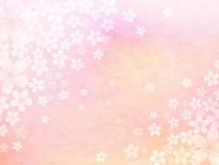 樱桃树_淡粉色_日本纸背景1609