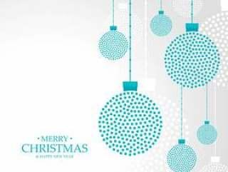 圣诞快乐圣诞吊球装饰背景