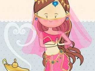 印度埃及舞蹈服装与魔术灯