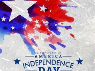 grunge风格美国独立日背景