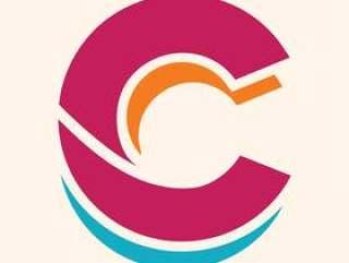 字母C的复古风格
