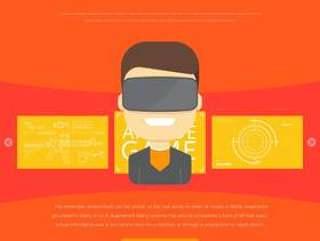 虚拟现实体验眼镜或耳机