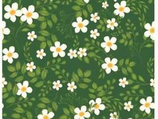无缝图案背景的花香