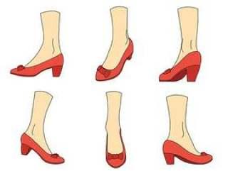 红宝石拖鞋矢量图标