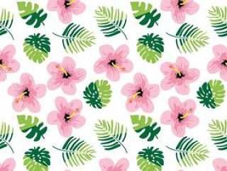 夏天无缝模式与花香