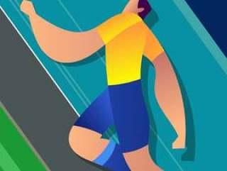 巴西世界杯足球运动员图