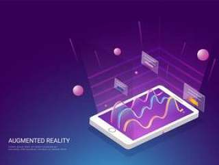 基于增强现实概念的登陆页面设计。