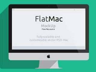 iMac& Macbook Psd Flat Mockup