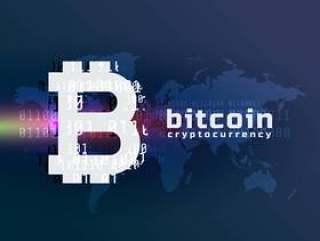 加密比特币货币符号矢量背景