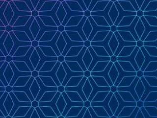 与抽象的几何图案的蓝色背景