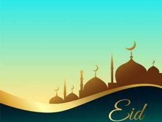 美丽的eid穆巴拉克背景设计