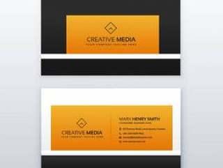 公司名片设计在黄色和黑色的颜色