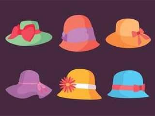 五颜六色的肯塔基德比帽子传染媒介