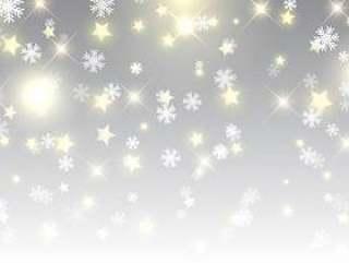 星星和雪花的圣诞节背景