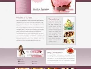 国外经典饮食/冰淇淋网站PSD分层素材