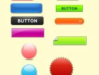 按钮图标psd分层素材