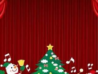 动物管弦乐队垂直的圣诞晚会框架