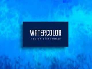 蓝色水彩污渍背景纹理