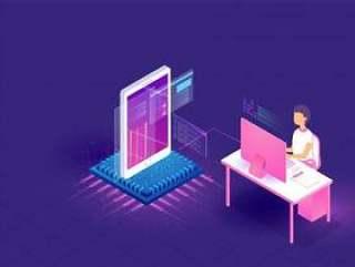 编码和编程概念等距插画矢量素材下载