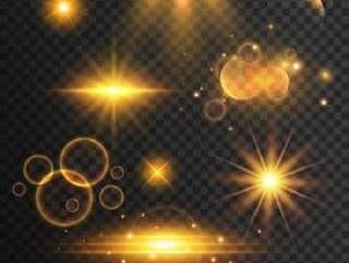 一套透明镜头光晕和灯光效果