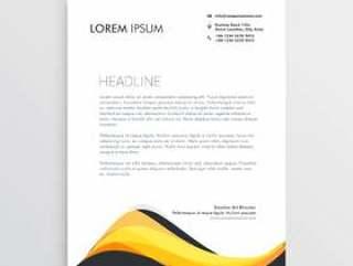 抽象的黄色信笺设计模板