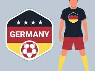 德国足球锦标赛会徽设计模板集