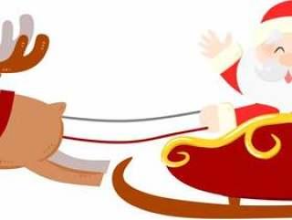 驯鹿和圣诞老人