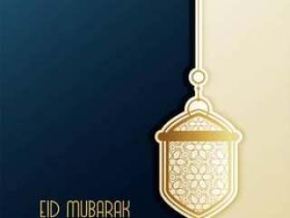 与垂悬的灯笼的eid节日问候