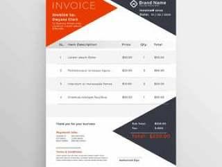 发票模板设计为您的公司业务
