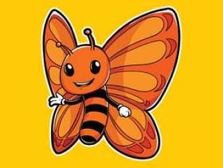 蝴蝶昆虫吉祥人