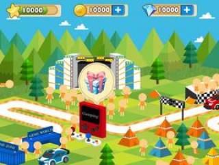 卡通类型手机游戏界面及素材
