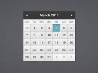 2011年日历界面—psd分层素材