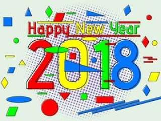 平的新年快乐2018年