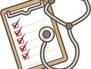 检查表和听诊器