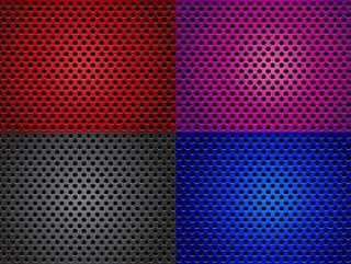 扬声器烧烤用不同的颜色矢量