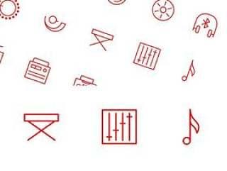 矢量音乐线性图标