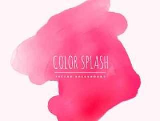 墨水矢量设计插画的粉红色水彩飞溅