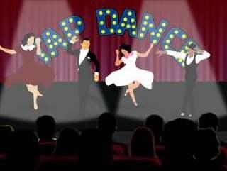 在舞台上点击舞者
