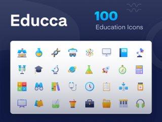 最新的图标包,但有一个非常独特的质量图标。包含代表教育需求的图标,这些图标非常独特,适合您的数字需求.Educca:Education Icon Pack