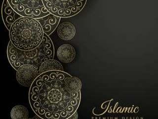美丽的伊斯兰背景与曼陀罗装饰