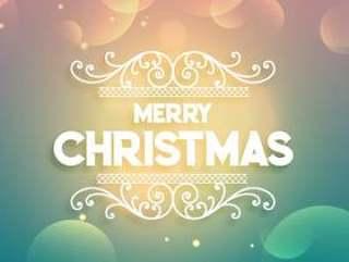 闪亮的圣诞快乐圣诞问候彩色背景