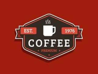 复古咖啡徽章