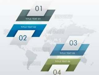 业务演示文稿的现代四个步骤的信息图