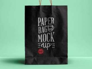 Psd纸袋模拟
