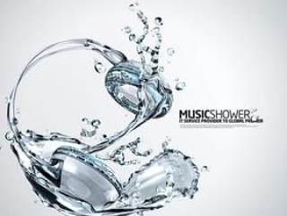 水之创意系列PSD分层素材-1