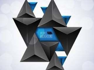 黑暗的三角形抽象背景